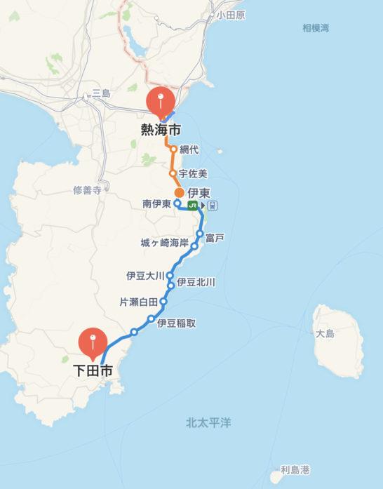 富嶽はなぶさと杉山酒店は、修善寺と三島の中間あたり