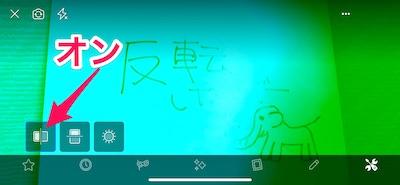 文字の反転は解消したけれど、画面全体が緑色