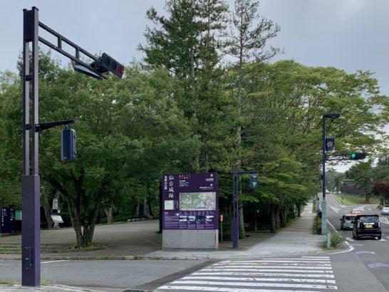 仙台市博物館前