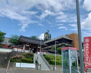 日本一高い場所にある不動明王像