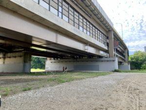 中ノ瀬橋の真下